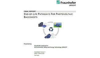 Innovativo studio del Fraunhofer Umsicht Institute su ciclo di vita e smaltimento del backsheet